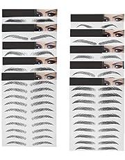 10 vellen zwart 6D wenkbrauwen stickers imitatie ecologisch haarachtige waterdichte natuurlijke tatoeages wenkbrauwstickers 100 paar