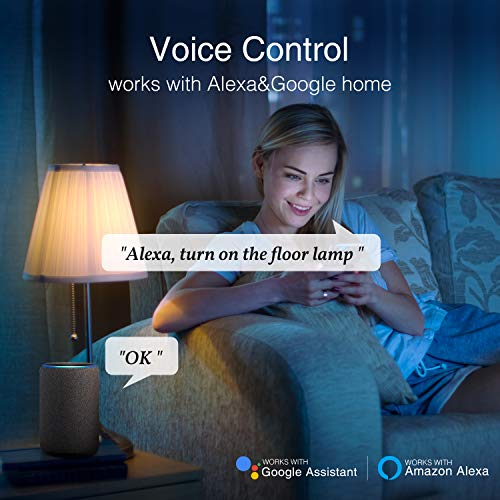 Smart Plug Works with Alexa and Google Home, Gosund Outlet Extender Surge Protector (Control Independently or Together), 8 Sockets, Remote Control, Timer and Schedule, No Hub Required, 10A (4 Pack)