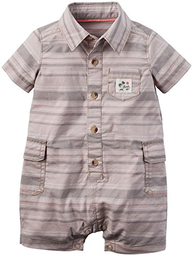 Carter's Baby Boys' Striped Cargo Romper