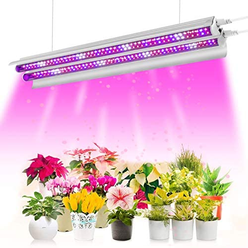 Aokrean T5 LED Grow Light 2FT, 60W 96 LEDs High Output Plant Grow Light Strip, 380-760nm Full Spectrum Grow Light Fixture with Reflectors, Linkable Design for Indoor Plants 2020 Upgraded