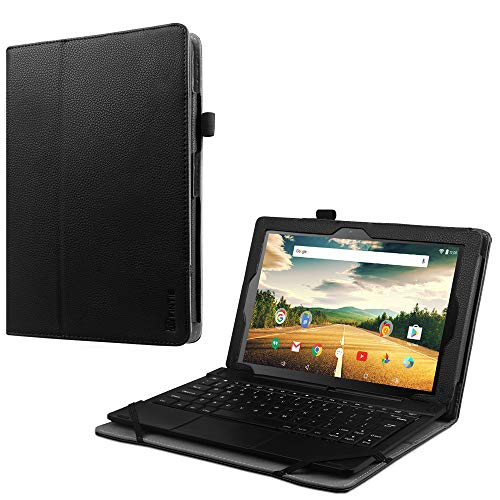 Fintie Smartab 10.1 2-in-1 Tablet Case (ST1009XBK / STW1800) - Premium PU Leather Folio Cover with Stylus Holder for Southern Telecom Smartab with WiFi 10.1 inch 2-in-1 Touchscreen Tablet PC, Black