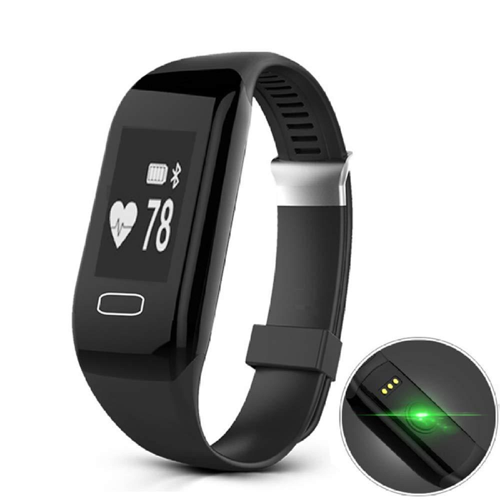 WLG DDGH intelligentes Armband, Herzfrequenz Wasserdichte Blautooth Sport Schrittzähler, Armband Geschenk