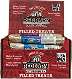Cheap REDBARN Peanut Butter Filled Rolled Rawhide Dog Chew, 24 Count, 2 Pack