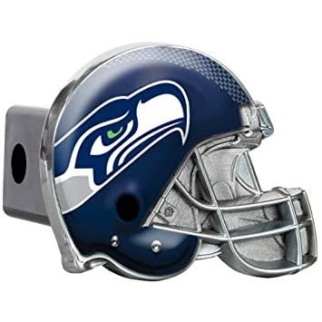 Great American NFL Seattle Seahawks casco de metal cubierta de enganche de remolque