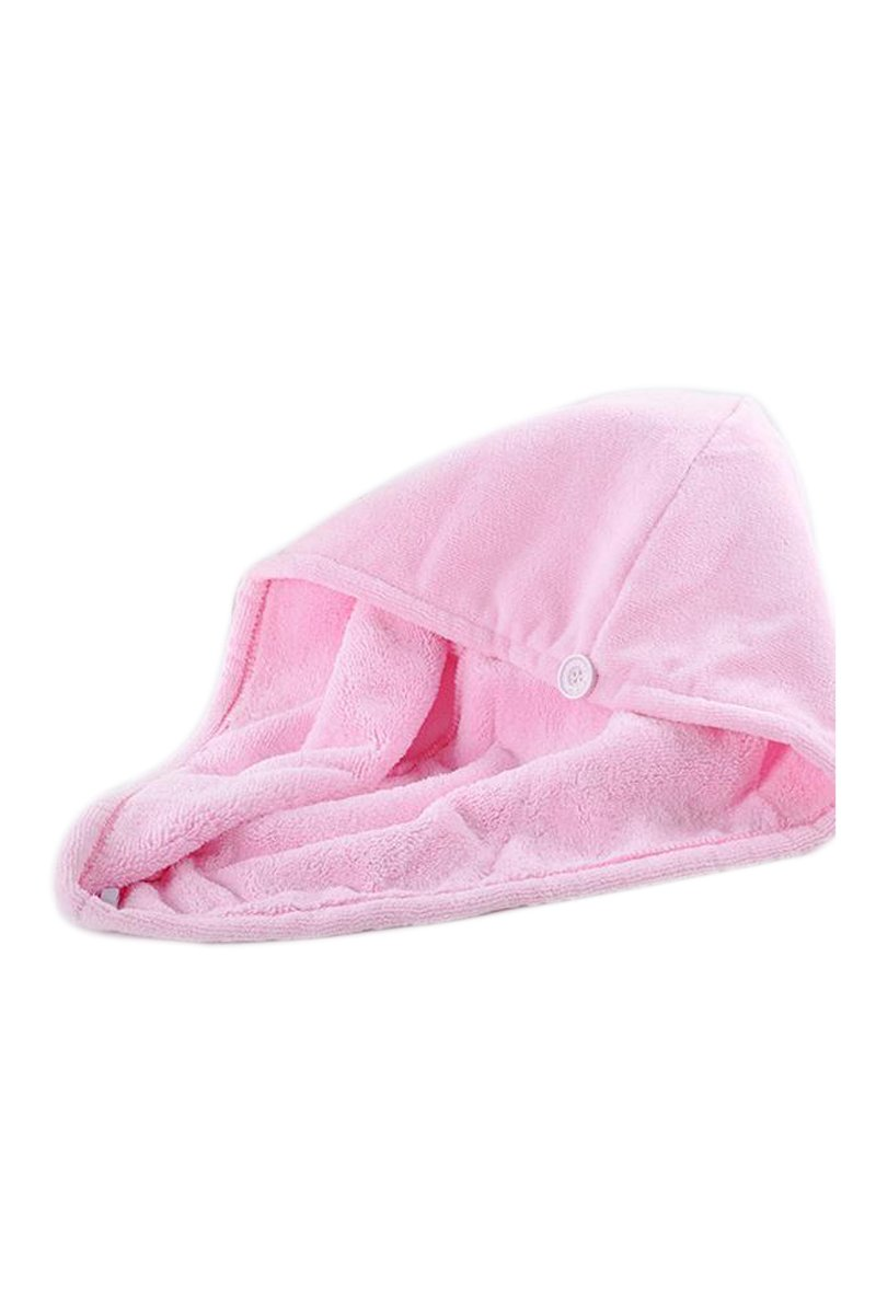 1PC magico microfibra capelli porta asciugamani cuffia da bagno dellinvolucro della testa del Rosa R cap asciugamano TOOGOO