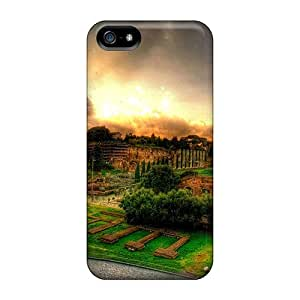 Protection Case For Iphone 5/5s / Case Cover For Iphone(view From The Colosseum Hdr)