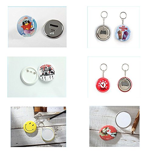 "Dawei 1001 Button Making Machine Badge Maker Button Maker With Aluminum Die/Mold ABS Slide (Φ37mm 1-1/2"")"