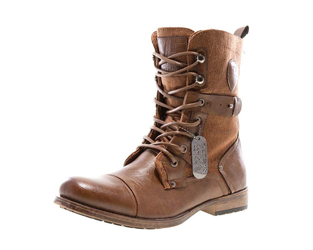 Steampunk Boots and Shoes for Men JUMP Mens Deploy Cap Toe Military Combat Boot $99.47 AT vintagedancer.com