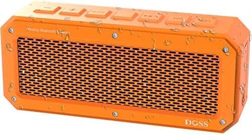 DOSS IPX 4 Wireless Water-Resistant Bluetooth 4.0 Portable Sport Speaker - Orange
