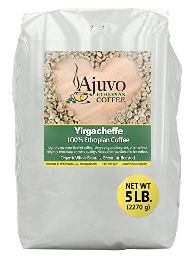 Ethiopian Yirgacheffe Coffee - Green, Whole Bean (5lb.)
