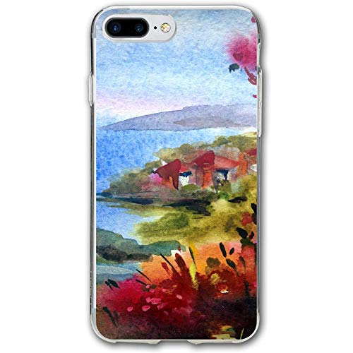 (Rustic Oil Painting Resistant Cover Case Compatible iPhone 7 Plus iPhone 6 Plus)