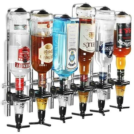 Wand montiert 6 Flasche Trinkmengen mit 25 ml Spirit Maßnahmen)
