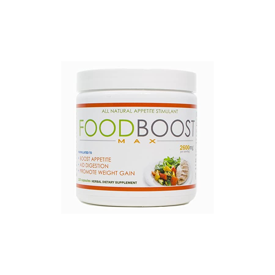 VH Nutrition | FoodBoost MAX | Appetite Stimulant for Men and Women | Natural Weight Gain Pills 30 Day Supply 120 Capsules