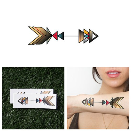Amazon Tattify Arrow Themed Temporary Tattoos