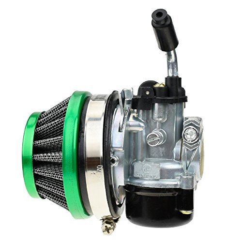 Carburetor Carb 58mm Air Filter for Combo Tomos A35 Dellorto Style SHA 14:12P Carb Colibri Targa LX 49cc Pocket ATV Quad 2 Stroke Engine 66cc 70cc 80cc Motorized Bicycle Bike