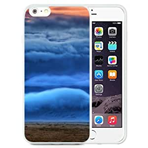 Fashionable Custom Designed iPhone 6 Plus 5.5 Inch Phone Case With Mountain Covered In Clouds_White Phone Case