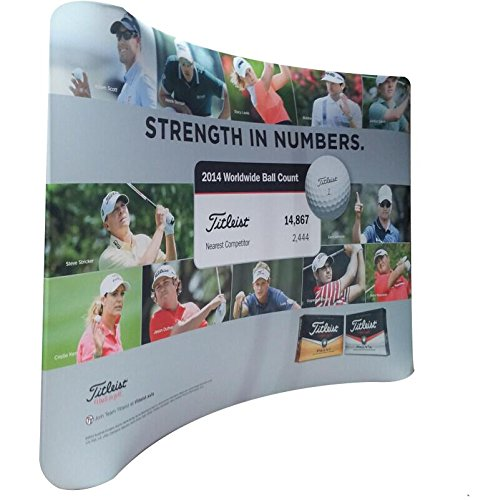 10' curved tension fabric display backdrop with your customed Dye Sublimation printed graphic for trade show - Tension Fabric Display 10'