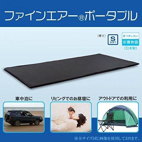 ファインエアーポータブル 約70×200cm ブラック FAPO-02 B06X3X66LM