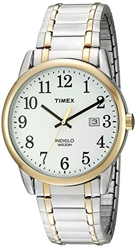 (Timex Men's TW2P81400 Easy Reader Two-Tone Stainless Steel Expansion Band Watch)