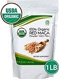 Madre Nature – 100% Peruvian Organic Gelatinized Red Maca Powder – (1LB) – non-GMO – Vegan – Gluten Free (16oz) For Sale