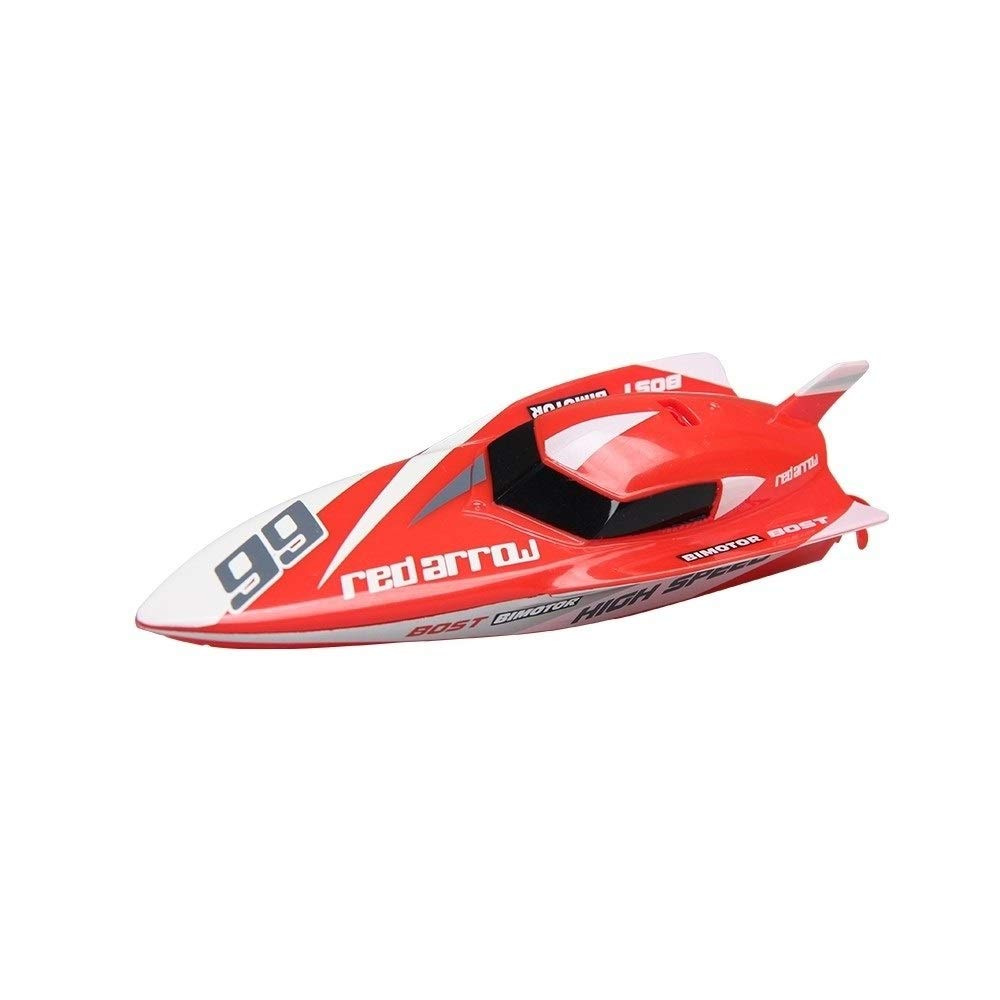 Woote Remote Control Boat Toy,Summer Outdoor Water Toys Remote Controlled RC Boats for Kids Or Adults, Self Righting High Speed Boat Toys for Boys Or Girls ( Color : Red )