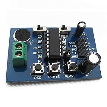 Amazon.com: SODIAL (R) ISD1820 módulo de grabación voz Junta ...