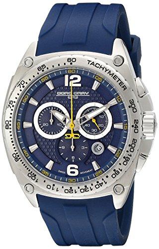 Jorg Gray Men's JG8400-21 Analog Display Quartz Blue Watch