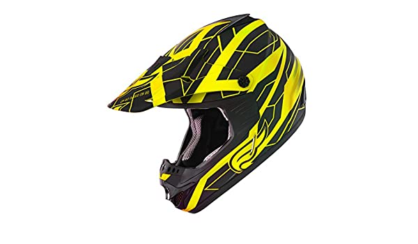 Amazon.es: Fulmer, x3003t24, adulto X30 Tracker casco MX ATV Dirt Bike Off road Dot/ECE Aprobado - negro/amarillo, L