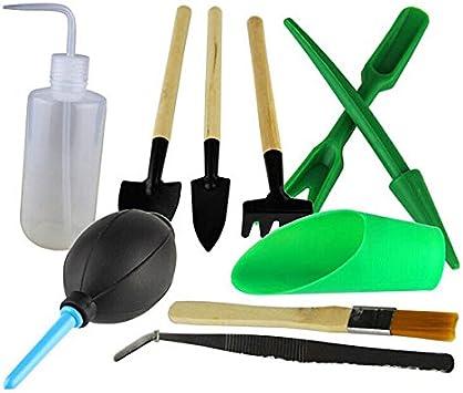 nuolux Mini plancha Pala Paleta Rake Herramientas para el jardín – 10pcs: Amazon.es: Bricolaje y herramientas