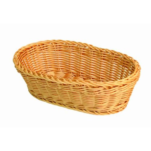 SET OF 2, 11-Inch Large Oval Tabletop Serving Baskets, Bread Roll Basket Baskets, Restaurant Serving/Diplay Baskets