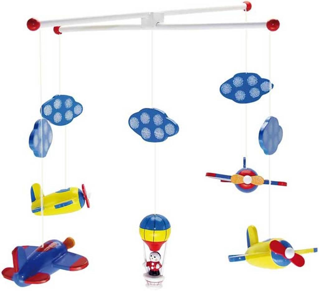 Ulysse Giostrina mobile con aereo di legno e palloncino [Importato dal Giappone] Uris 1126
