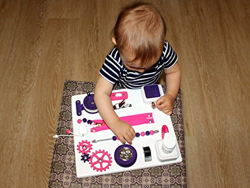 Juguete para viajar, Tablero sensorial, Tablero ocupado para niños pequeños, Tablero de actividad mini, Tablero de viaje...