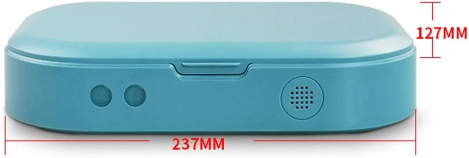 Multifunctional Sterilizer UV Lights Cell Phone Sanitizer Sterilizer Cleaner Aromatherapy Function Disinfector for iPhone Android Cellphone and Toothbrush Blue