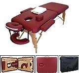 "New 3"" Foam Burgundy Portable Massage Table Spa Salon Tattoo"