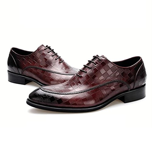 Men's Leather Leisure Tendon Shoes Dress Tuxedo Business Wedding Fashion Slip On Black-brown Red discount best wholesale mfZmy