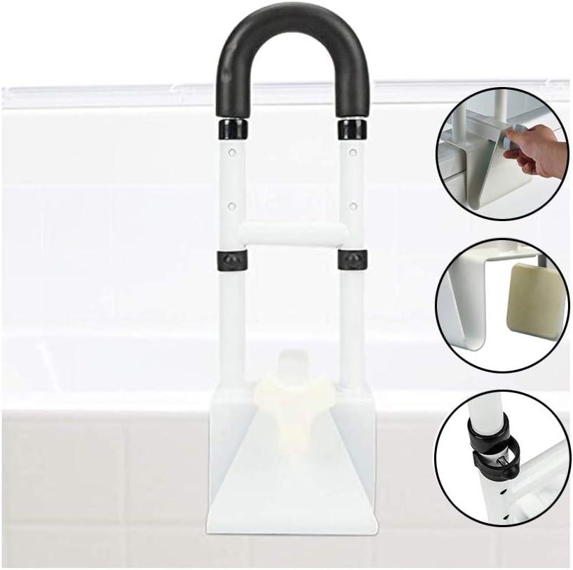 Adjustable Bath Bathtub Safety Rails Frame Shower Grab Leiste Handle Clamps auf zu Side von Bathtub Shower Non-Slip Great Elderly, Child, Pregnant, After Surgery -Steel- 350Lbs Support- Yayadu
