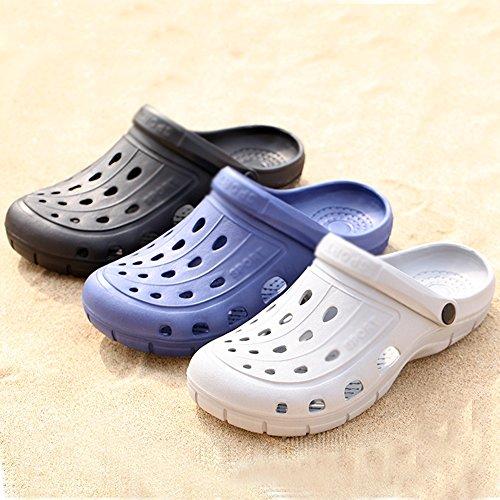 Pantoufles D'été Taille Amoureux Cn43 Anti Salle De Sandales Mode couleur Bain Uk8 La dérapant Bleu De 5 Blanc De Chaussures Eu42 Masculine Respirant Mazhong UEqBt5