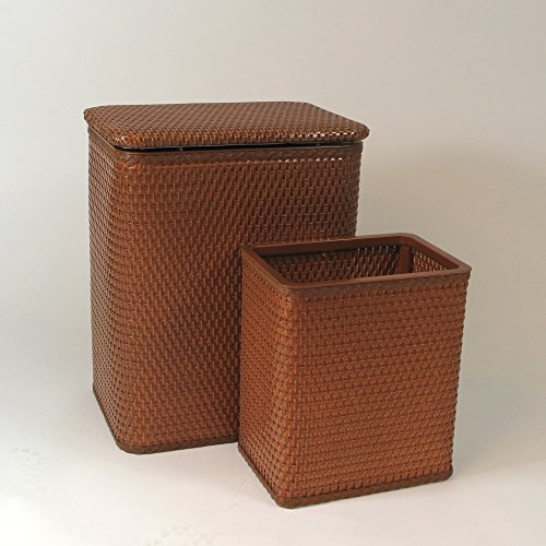 RedmonUSA Redmon for Kids Chelsea Wicker Nursery Hamper and Matching Wastebasket, Nutmeg by RedmonUSA by RedmonUSA