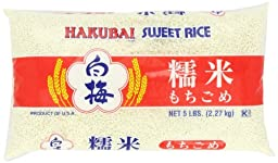 Hakubai Sweet Rice, 5-Pound