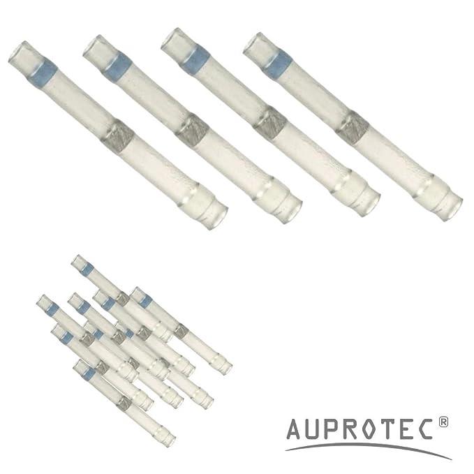 0,67 EUR//Stück Stossverbinder weiss 0,3-0,8 qmm 25 Stück Lötverbinder