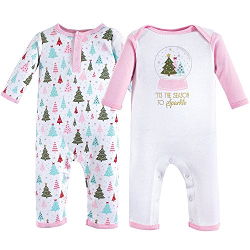 (Hudson Baby Unisex Baby Coveralls/Union Suits, Sparkle Trees, 9-12 Months (12M) )