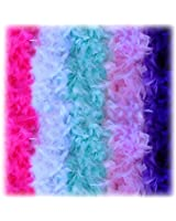 5pcs Feather Chandelle Boa (Different color Sets for pick)