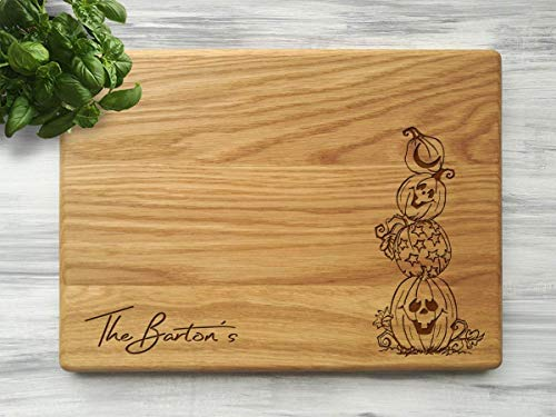 Personalized Cutting Board Pumpkins Halloween Kitchen Engraved Chopping Board Wood Kitchen Board Funny Housewarming Gift Halloween Gift for Couple