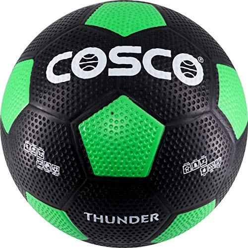 Cosco 14051 Thunder Rubber Football, Size 5,  Multicolour