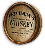 Personalized White Mountain Whiskey Quarter Barrel Sign