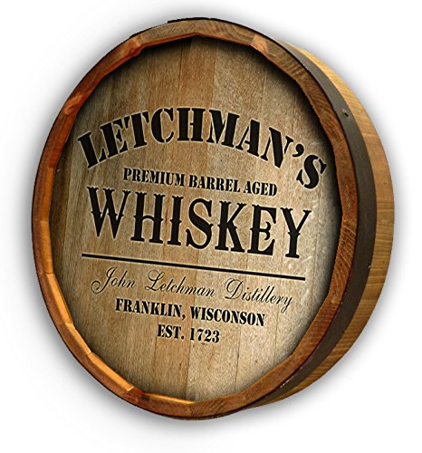 Personalized White Mountain Whiskey Quarter Barrel Sign (Quarter Wine Barrel compare prices)
