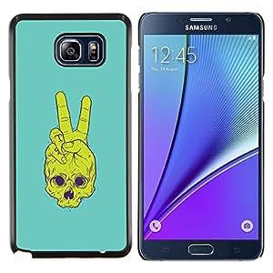 Cráneo de la Paz- Metal de aluminio y de plástico duro Caja del teléfono - Negro - Samsung Galaxy Note5 / N920