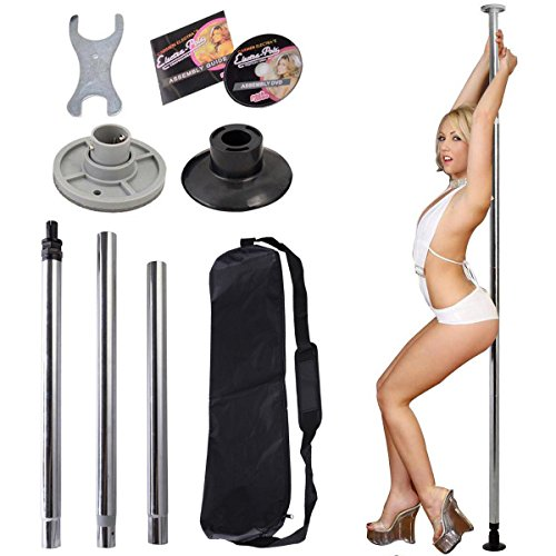 Portable Stripper Exercise Fitness Club Party Dancing FULL KIT SILVER by westernb2k