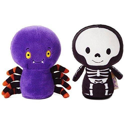 Hallmark itty bittys Halloween Spider and Skeleton Stuffed Animals Set of -