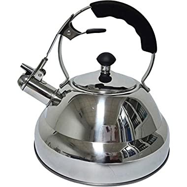 Premium Tea Kettle – 3L Rust Proof Stainless Steel | Whistling Teapot | Quick Boiling With Encapsulated Base | Can Be Used On All Major Heating Sources | Best For Camping